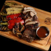 Свиной стейк с овощами гриль The Pub
